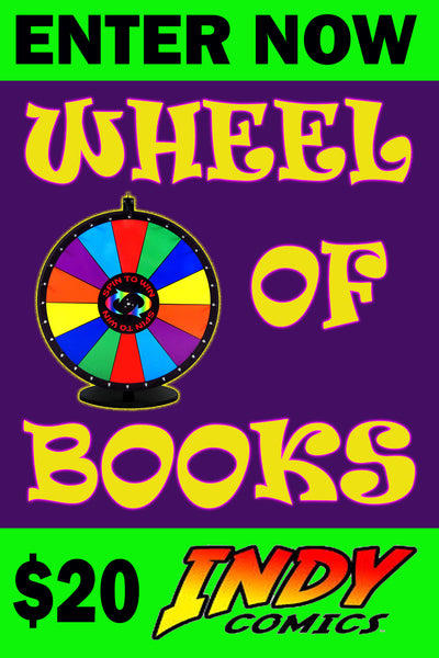 WHEEL OF BOOKS $20 INDY COMICS SESSION ENTRY ON FRIDAY MAY 29, 2020