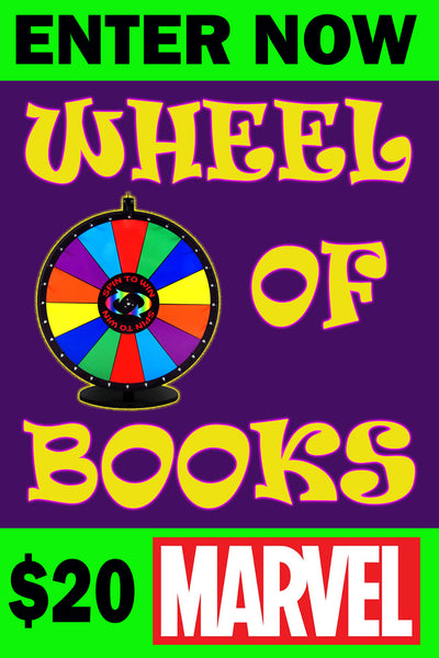 WHEEL OF BOOKS $20 MARVEL COMICS SESSION ENTRY ON FRIDAY MAY 29, 2020