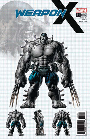 Weapon X 11 Marvel 2017 NM 1:25 Mike Deodato Jr Design Variant Wolverine X-23 Batch H