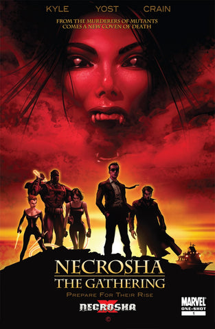 Necrosha 1 Shot Marvel 2010 Vampires Movie Homage
