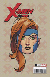 X-Men Red 1 Marvel Legacy 2018 1:10 Travis Charest Headshot Variant Jean Grey