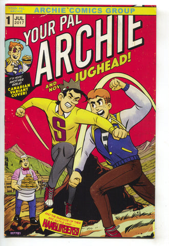 Your Pal Archie 1 2017 NM+ 9.6 Incredible Hulk 181 Wolverine Homage Jughead