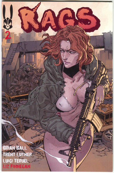 Rags #2 Antarctic Press 2018 NM Reprint Luigi Teruel Variant Zombies Uncensored