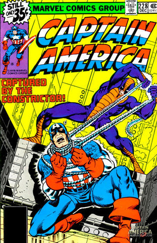 Captain America 228 Marvel 1978 Constrictor Iron Man