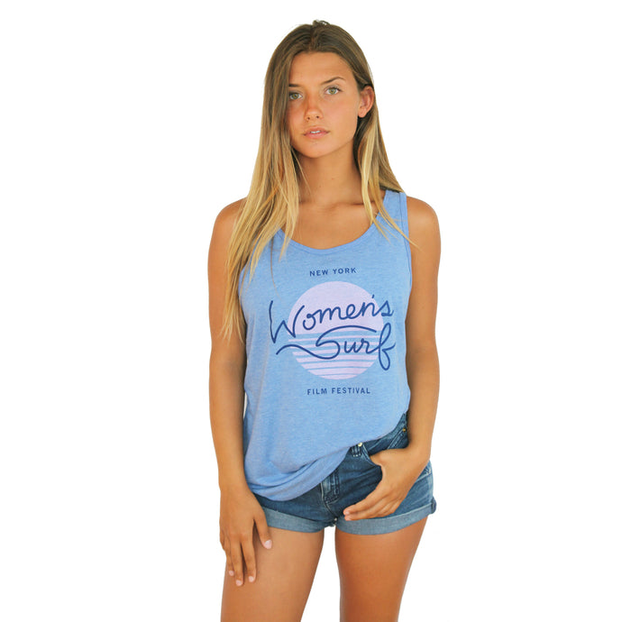 2017 NY WOMEN'S SURF FILM FEST | BLUE UNISEX TANK