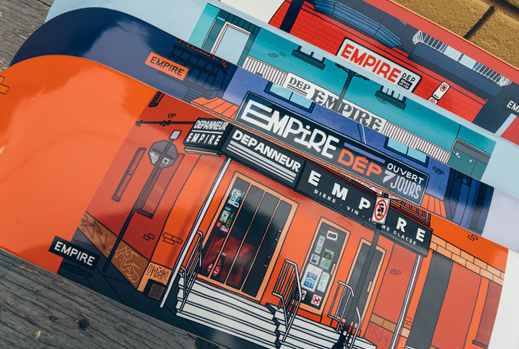 Tous les skateboards Empire *