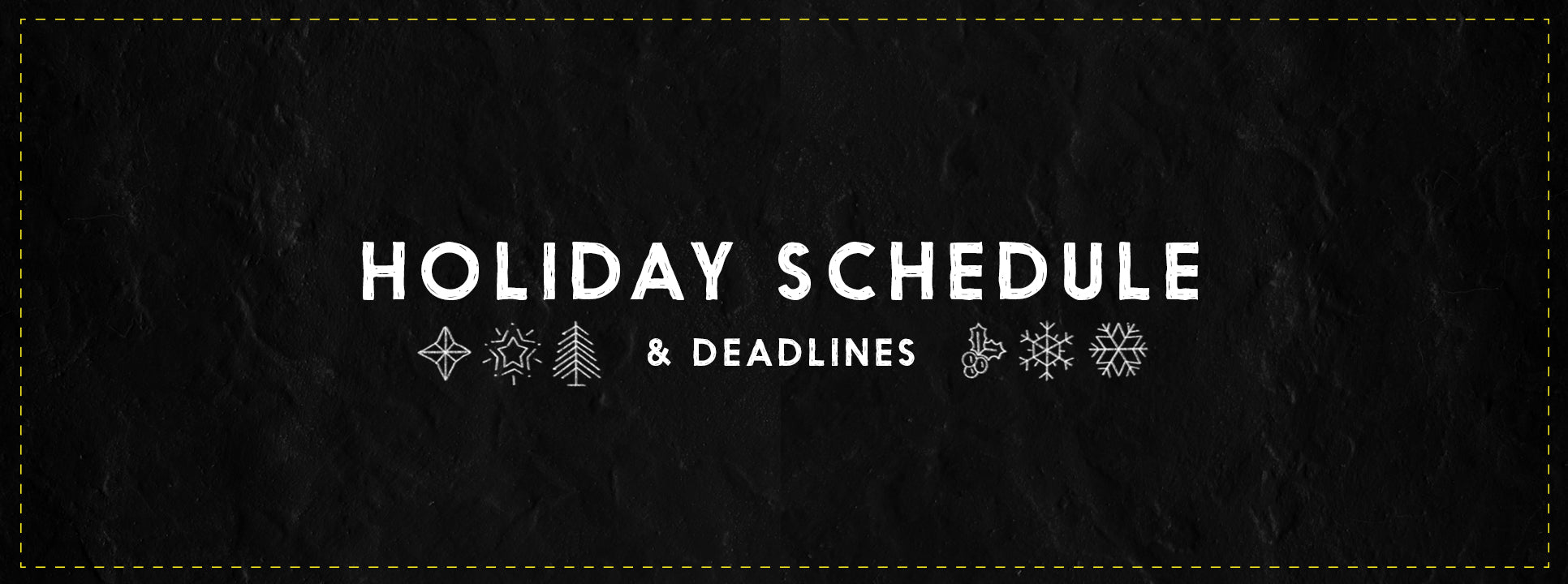 2019 Holiday Schedule