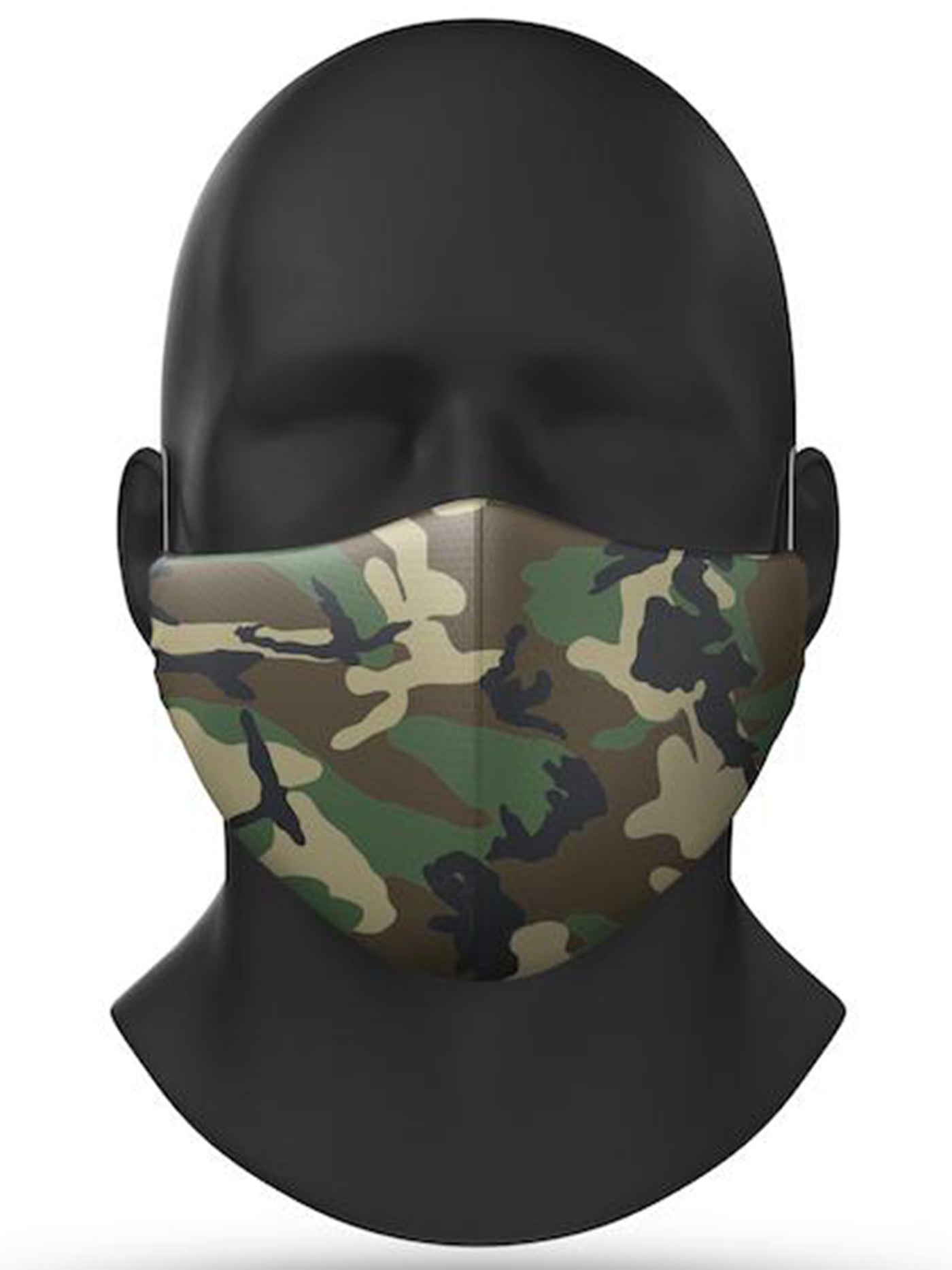 Green Camo Covid-19 Face Mask