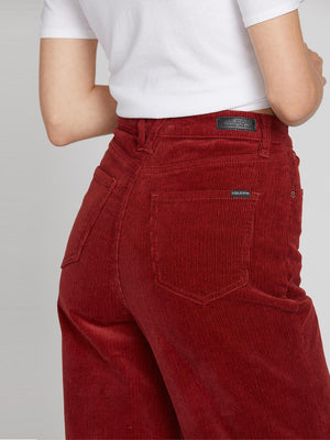 Oh My Cord High Rise Wide Fit Crop Pants