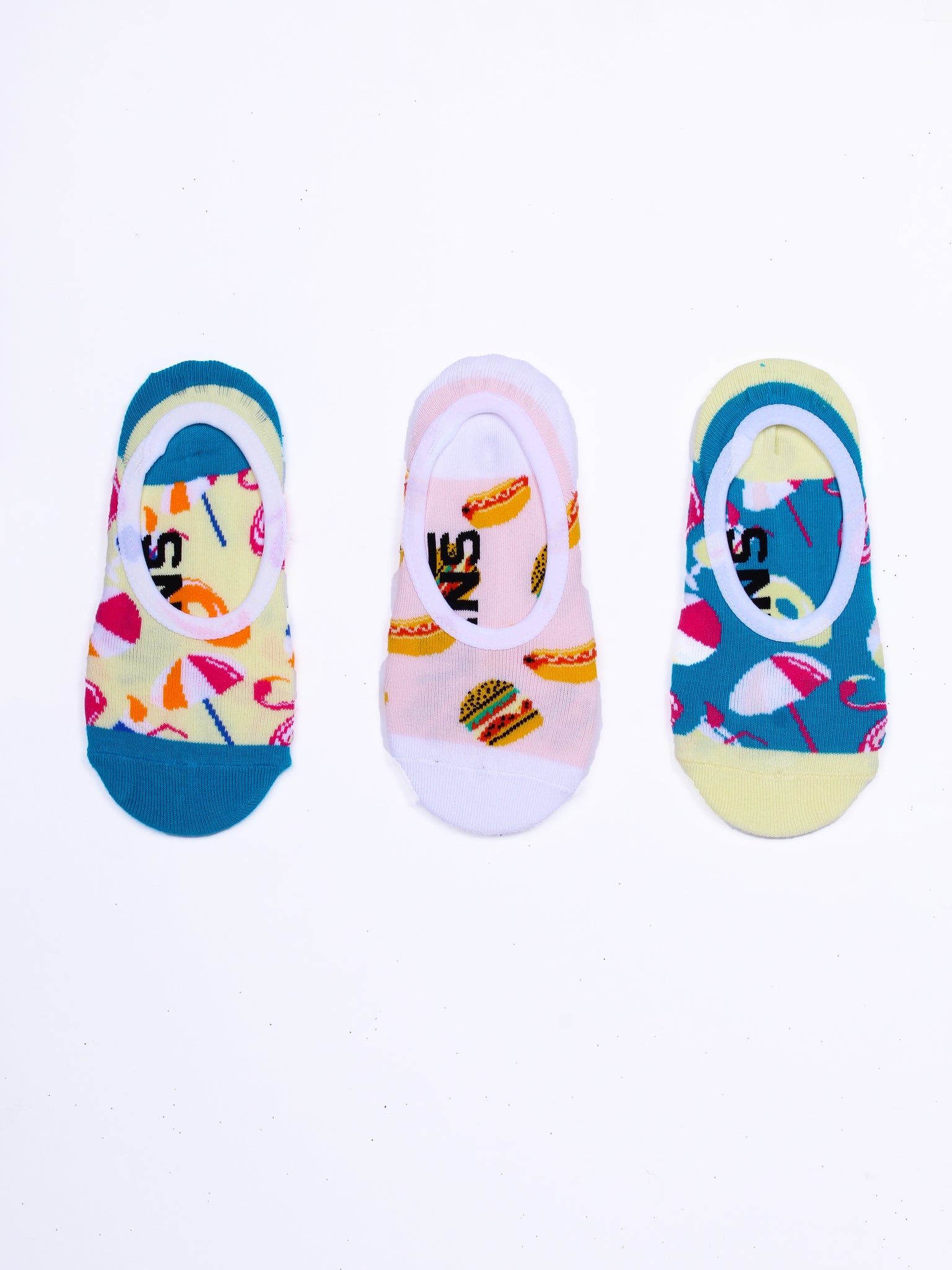 Pool Party Canoodle 1-6 3 Pack Socks