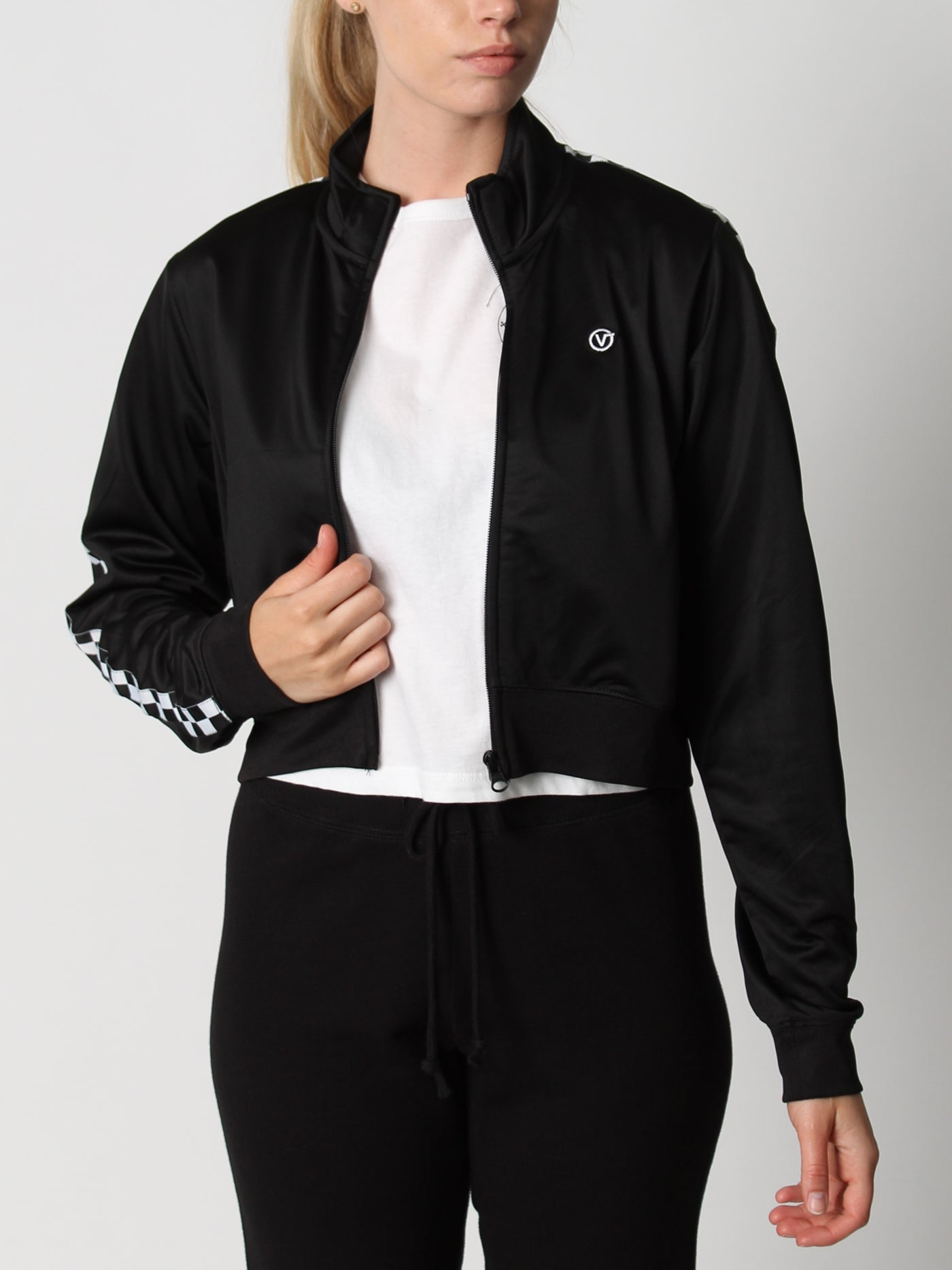 Check Mark Track Crop Jacket