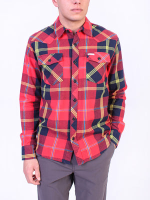 RED/NAVY PLAID
