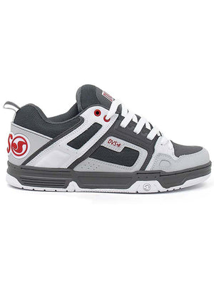 CHARCOAL WHITE RED NUBUCK