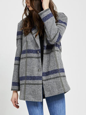HEATHER MID GREY PLAID