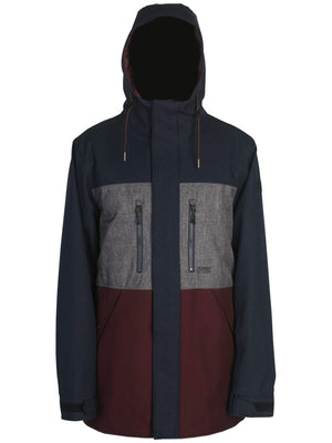 NAVY/GREY MELANGE/WINE