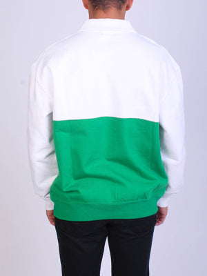 WHITE/KELLY GREEN
