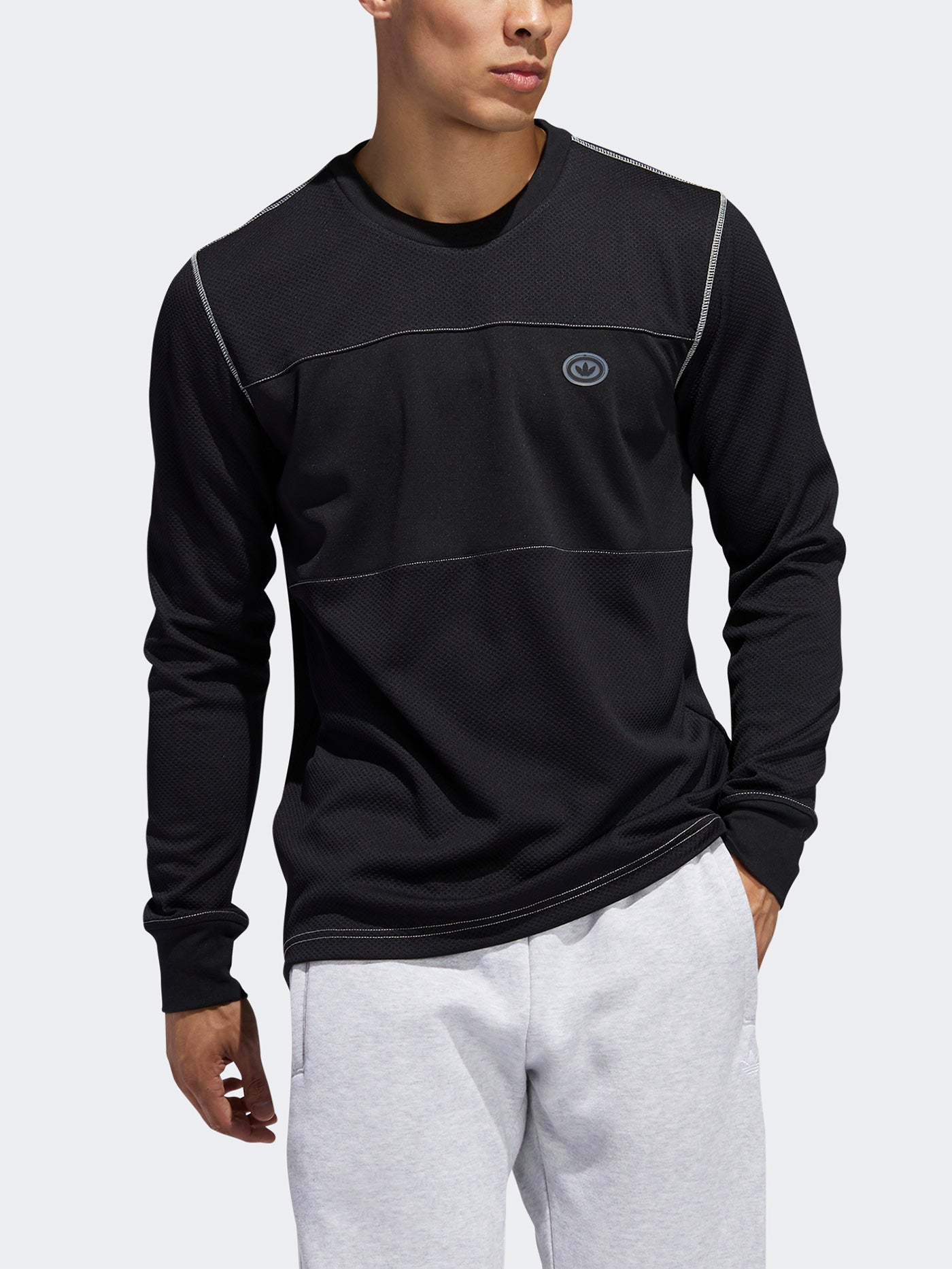 Primera Layer Black/Off White Long Sleeve T-Shirt