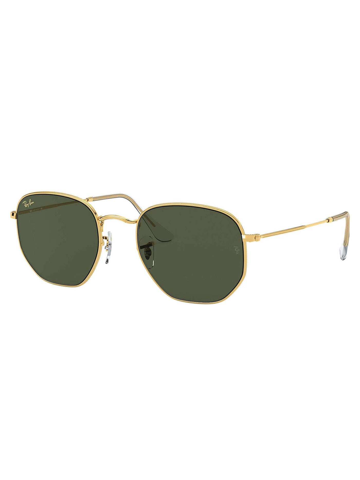 Hexagonal Gold Green Classic Polarized Sunglasses