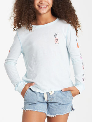 Hearts N Pineapples Long Sleeve T-Shirt (Girls 7-14)