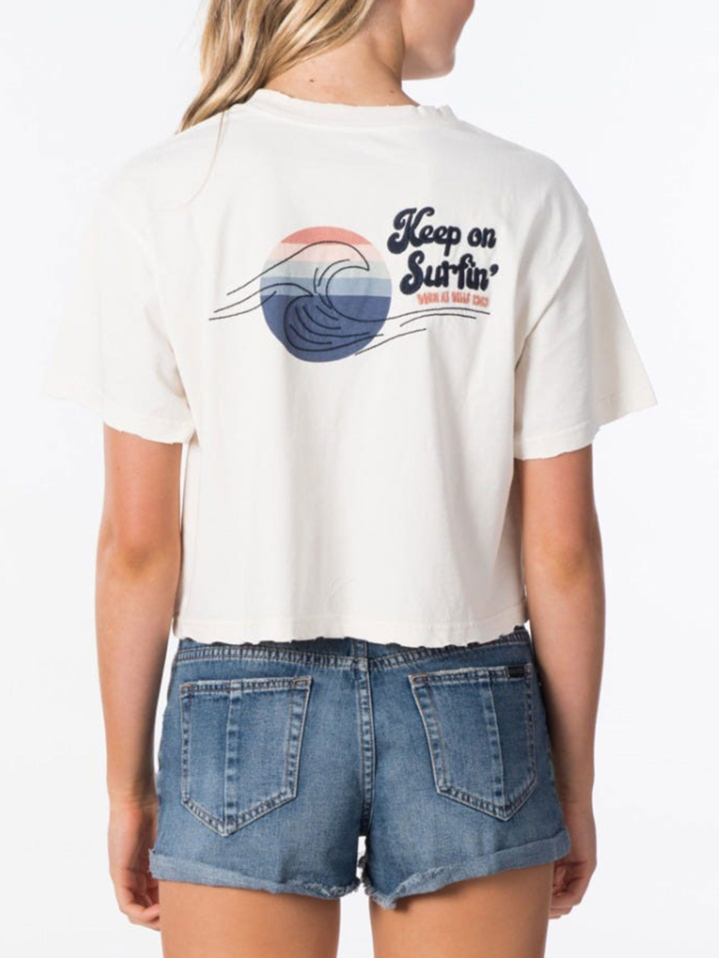 Keep On Surfin Crop T-Shirt