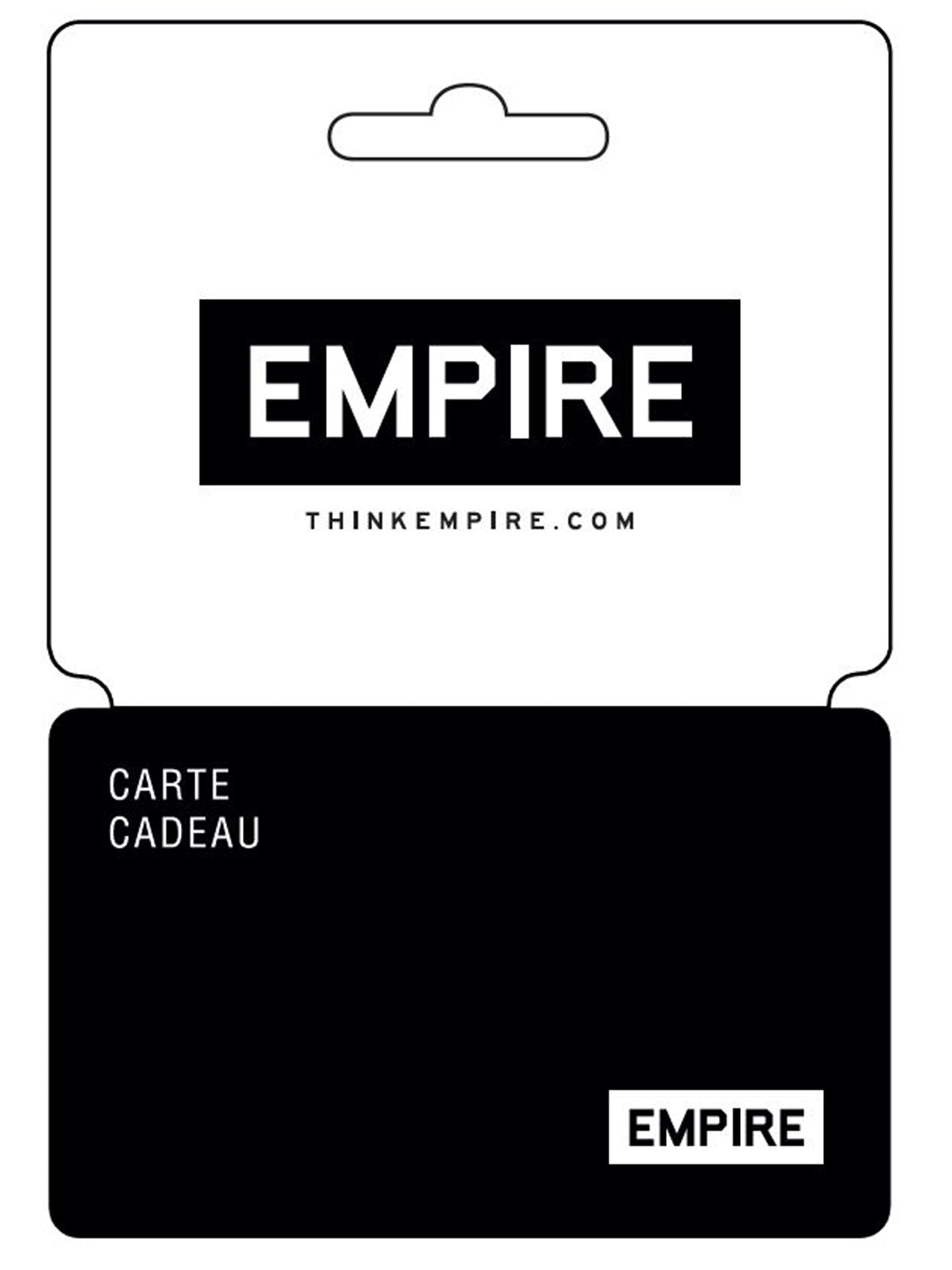 Empire Physical Gift Card (Plastic Cards from 25$ to 500$)