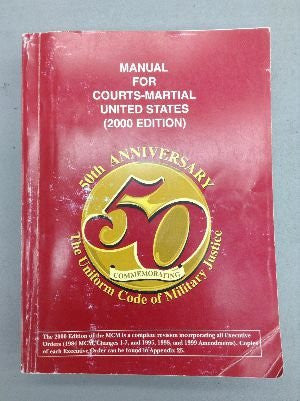 Manual For Courts-Martial United States (2000 Edition)