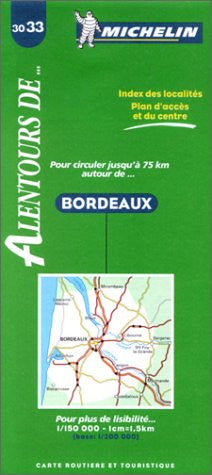 France Bordeaux Michelin Map #3033