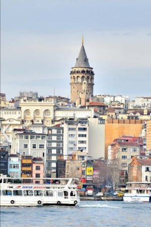 A View of Istanbul Turkey Travel Journal: 150 Page Lined Notebook/Diary