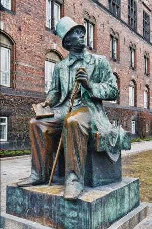Hans Christian Andersen Statue in Copenhagen Denmark Journal: 150 Page Lined Notebook/Diary