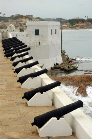Cannons Along the Wall at Cape Coast Castle in Grenada Journal: 150 page lined notebook/diary