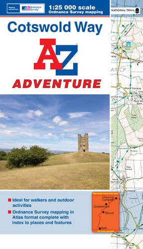 Cotswold Way Adventure Atlas 1:25K A-Z (A-Z Adventure Atlas)