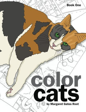 Color Cats Book One: Coloring Pages for Adults
