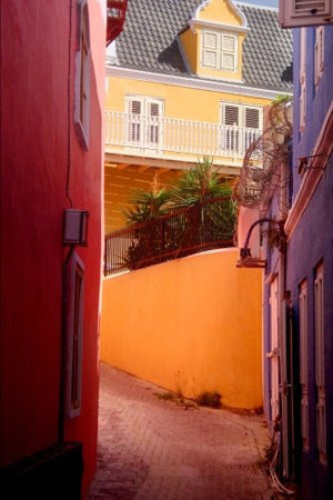 Colorful Buildings in Punda Curacao Journal: 150 page lined notebook/diary