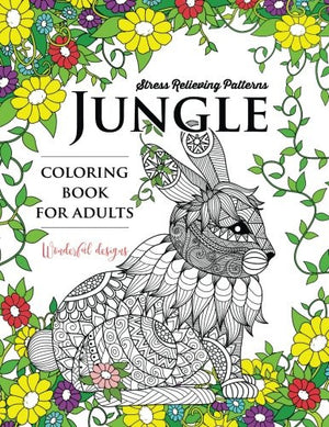 Jungle coloring book: An Animals Adult coloring Book