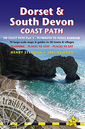 Dorset & South Devon Coast Path: (Sw Coast Path Part 3) British Walking Guide With 70 Large-Scale Walking Maps, Places To Stay, Places To Eat (Tra