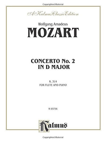 Flute Concerto No. 2, K. 314 (D Major) (Orch.): Part(s) (Kalmus Edition)