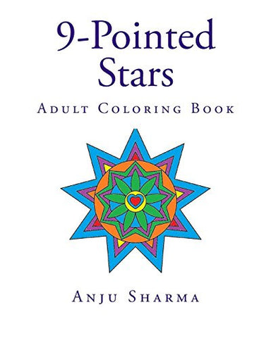 19 9-Pointed Stars: Adult Coloring Book