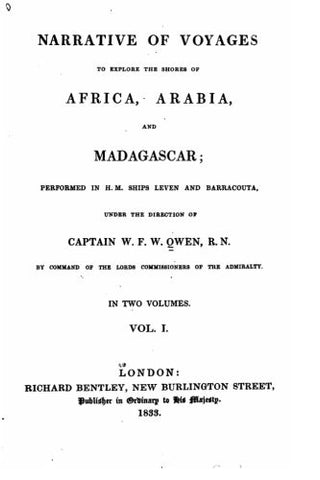 Narrative of voyages to explore the shores of Africa, Arabia, and Madagascar - Vol. I