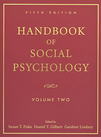 Handbook of Social Psychology: Volume Two