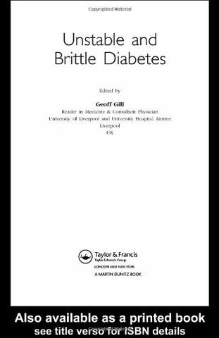 Unstable and Brittle Diabetes (Advances in Diabetes)