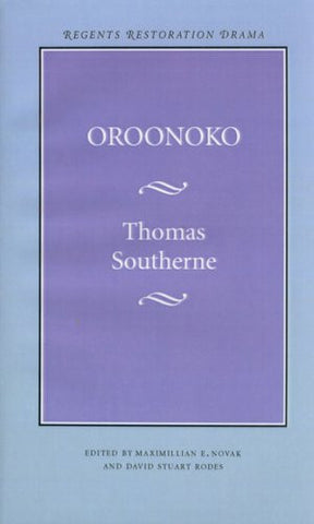 Oroonoko (Regents Restoration Drama Series)