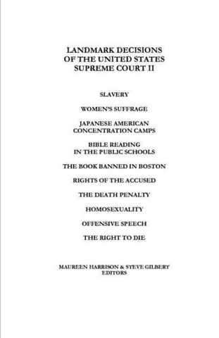 Landmark Decisions of the United States Supreme Court II