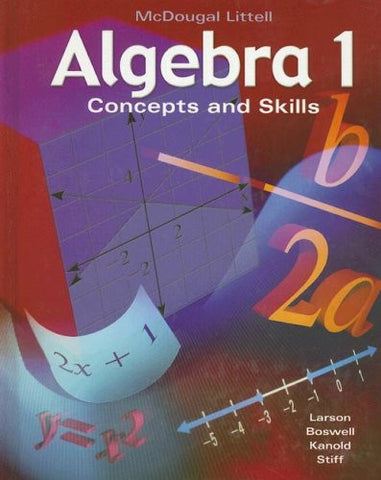 Algebra 1: Concepts and Skills: Student Edition © 2001 2001
