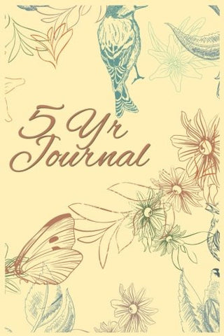 5 Yr Journal: 5 Years Of Memories, Blank Date No Month, 6 x 9, 365 Lined Pages
