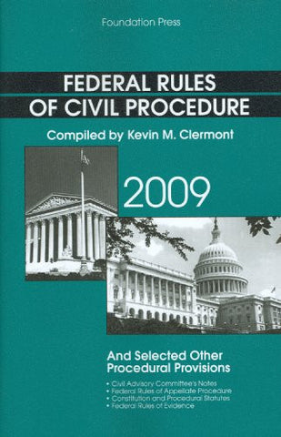 Federal Rules of Civil Procedure and Selected Other Procedural Provisions (Selected Statutes)