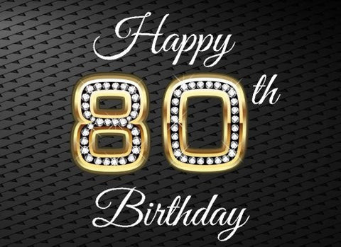 "Happy 80th Birthday: 80th Birthday Guest Book, Blank Lined Guest Book For Birthdays, (8.25"" x 6"" Paperback)"