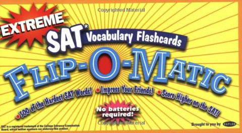 Extreme SAT Vocabulary Flashcards Flip-O-Matic, Second Edition