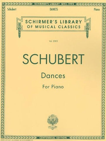 Dances for Piano: Piano Solo (Schirmer's Library of Musical Classics)