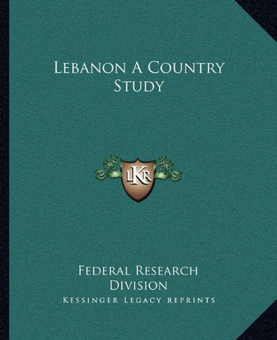 Lebanon A Country Study