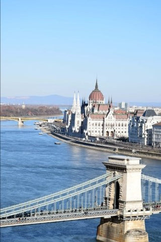 A View of the Danube River in Budapest Hungary Journal: 150 Page Lined Notebook/Diary